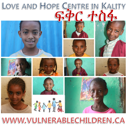 The children at Vulnerable Children Society's Love and Hope Centre in Kality, Ethiopia