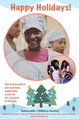 Vulnerable Children Society Christmas holiday gift donation Ethiopia