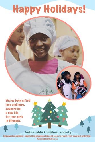 Vulnerable Children Society Christmas holiday gift donation Ethiopia